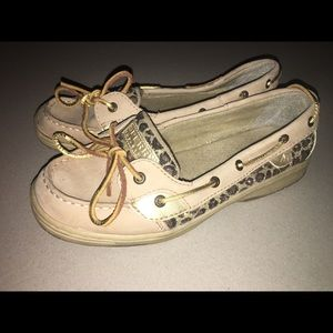 Sperry Top Sider Sparkle Leopard and Gold